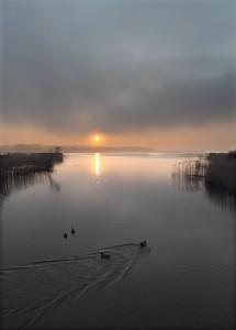 Solnedgang Aarhus Å